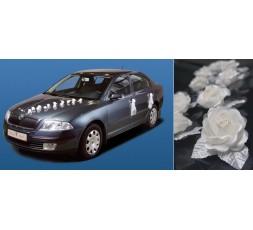 Róże na przyssawkach kremowe KWR1-079-10szt