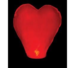 Lampion serce czerwone 38X70X102 LAMP1- 1szt
