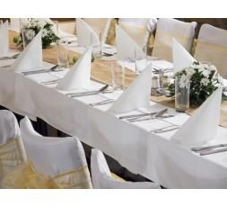 Obrus na stół OBRU3 180 x300 cm biały