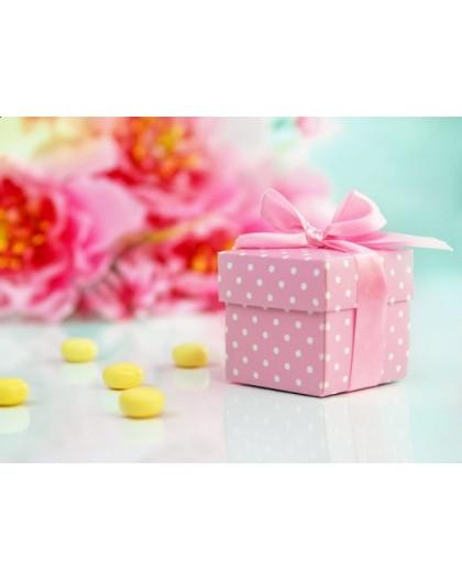 Pudełeczka różowe ze wstążką PUDP/R