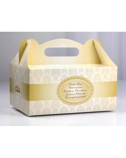 Ozdobne pudełka na ciasto weselne PUDCS1