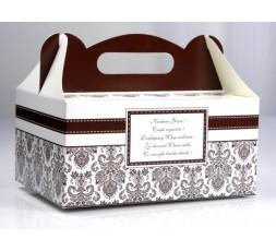 Ozdobne pudełka na ciasto weselne PUDCS3