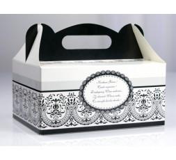 Ozdobne pudełka na ciasto weselne PUDCS2
