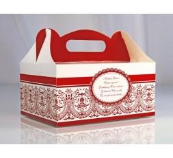 Ozdobne pudełka na ciasto weselne PUDCS4