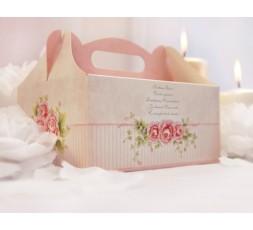 Ozdobne pudełka na ciasto weselne PUDCS5