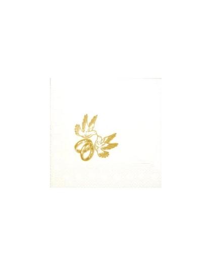 Serwetka biała z gołąbkiem S 33-008G