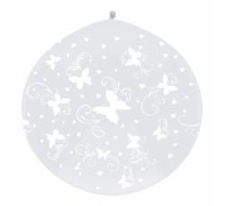 OLBON5G-038 ''białe motylki '' wentyl góra
