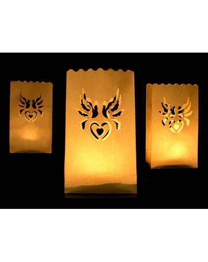 Lampiony torebki na świece LAMPT 10szt
