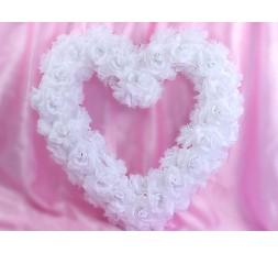 Serce kwiatowe puste puszyste PSU-008