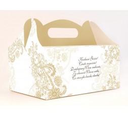 Pudełka na ciasto weselne PUDCS11
