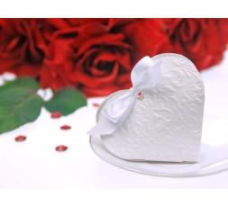 Pudełeczka dla gości serduszko białe PUDP10