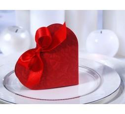 Pudełeczka dla gości serduszko  czerwone PUDP11