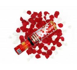 Tuba granat serca białe i czerwone płatki róż TUKG30