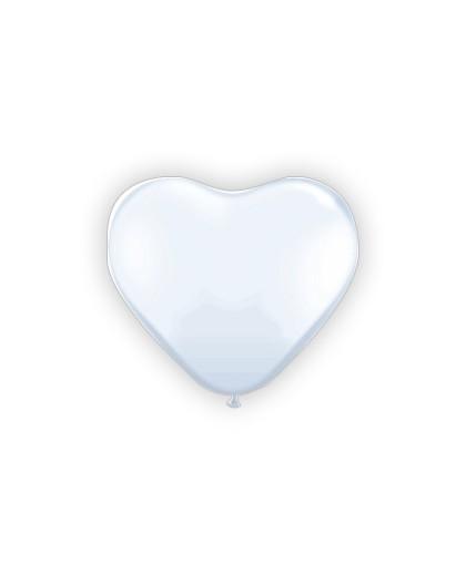 Balony serca białe 091m
